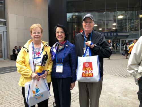 2018 RI Convention Toronto Canada 1, L to R:  Janet Swenson, Margaret Kelly, Ray Swenson